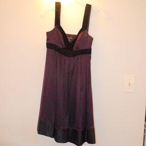 Banana Republic Silk and Velvet Trim Dress